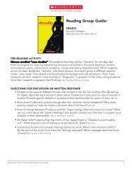 Reading Group Guide: - Scholastic