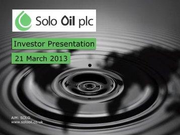 Download report - Solo Oil