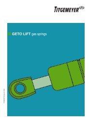 GETO LIFT gas springs - Titgemeyer