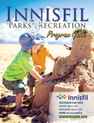 2013 Parks & Recreation Spring & Summer ... - Town of Innisfil