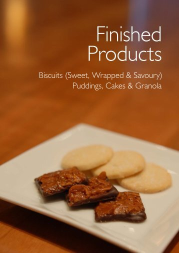 Biscuits (Sweet, Wrapped & Savoury) Puddings, Cakes & Granola