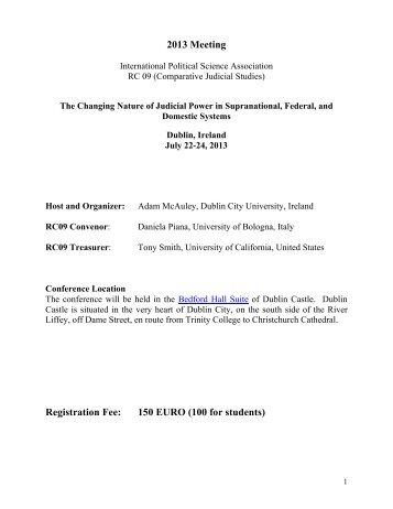 Conference Program, RC09 Dublin 2013 - RC09 - Comparative ...