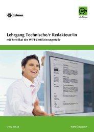 WIFI Lehrgang Technische/r Redakteur/in