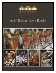 Wedding or Baby Shower Menu #1 - Mississauga Convention Centre