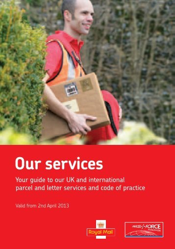 Our services 2013 - Royal Mail