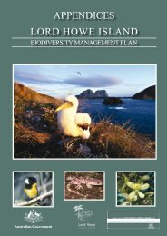 Lord Howe Island Biodiversity Management Plan - Department of ...