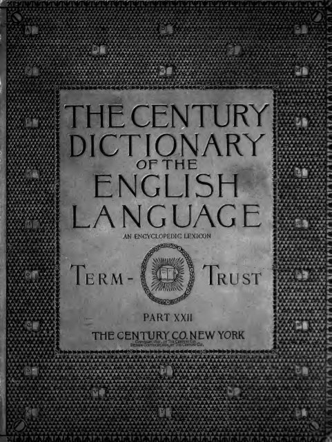 The Century Dictionary An Encyclopedic Lexicon Of The