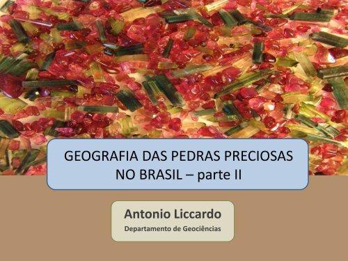 Geografia das Pedras Preciosas 2 - Geoturismo Brasil
