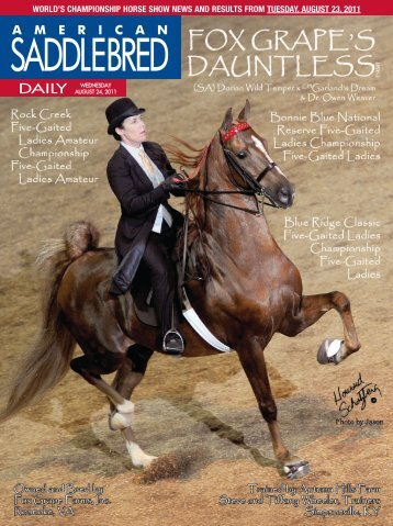 Wednesday - American Saddlebred Horse Association