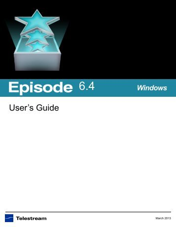 Episode User's Guide - Telestream