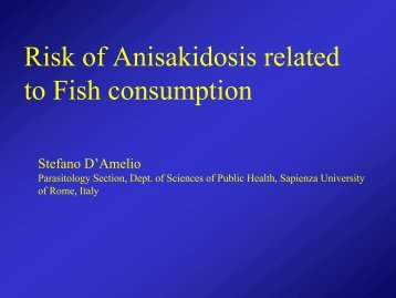 Risk of Anisakidosis related to Fish consumption