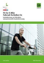 WIFI Fit for E-Bike Fahrrad-Techniker/in