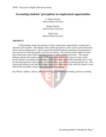 research paper about accounting students