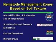 Nematode Management Zones Based on Soil Texture Nematode ...