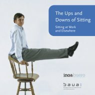 The Ups and Downs of Sitting - Sitting at Work and Elsewhere