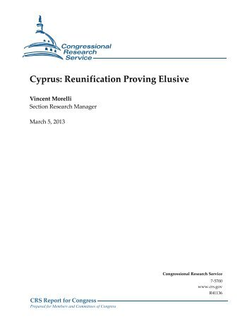 Cyprus: Reunification Proving Elusive