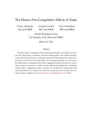 The Elusive Pro-Competitive Effects of Trade - MIT Economics