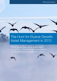 The Hunt for Elusive Growth: Asset Management in 2012 - McKinsey ...