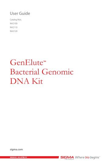 isolation of genomic dna from bacteria pdf