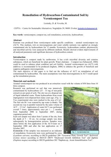 a bio remediation of explosives in contaminated soil Bioremediation study with soils contaminated by explosives at adazhi soil bioremediation has become a conditions of soils contaminated by explosives.