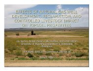 Effects of Natural Gas Well Development, Reclamation, and