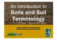 An introduction to soils, soil formation and terminology