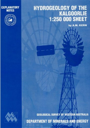 Hydrogeology of the Kalgoorlie 1:250 000 sheet - Department of Water