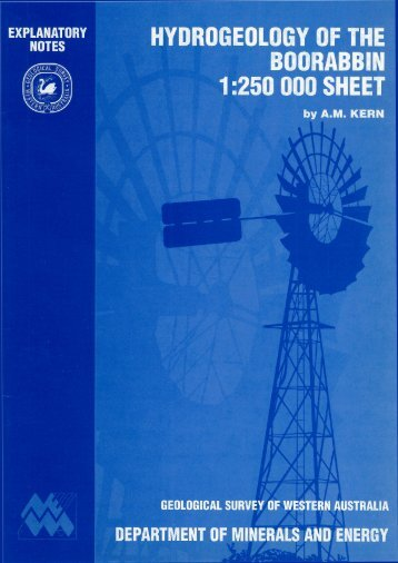 Hydrogeology of the Boorabbin 1:250 000 sheet - Department of Water