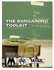 The Bargaining ToolkiT - Michigan Association of School Boards
