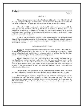 SPS Policy Manual - Saginaw Public Schools