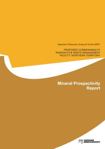 MINERAL PROSPECTIVITY REPORT - Department of Resources ...