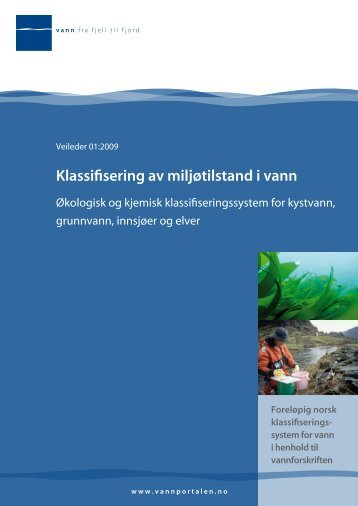 Klassifisering av miljøtilstand i vann - NINA