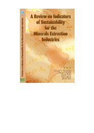 A Review on Indicators of Sustainability for the Minerals Extraction ...
