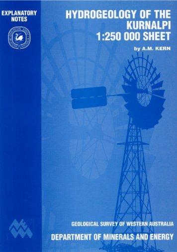 Hydrogeology of the Kurnalpi 1:250 000 sheet - Department of Water