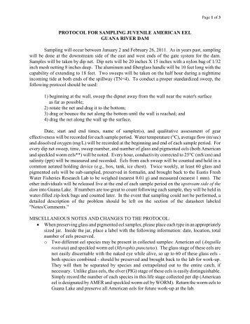 FWC Eel Sampling - Protocol 2013 Schedule.pdf