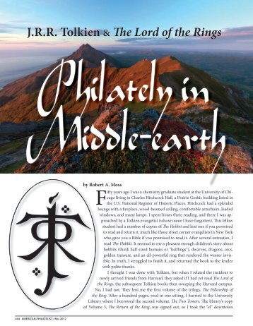 J.R.R. Tolkien & The Lord of the Rings - American Philatelic Society