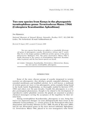 Two new species from Kenya in the physogastric - science . naturalis