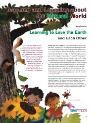 Teaching and Learning about the Natural World - National ...