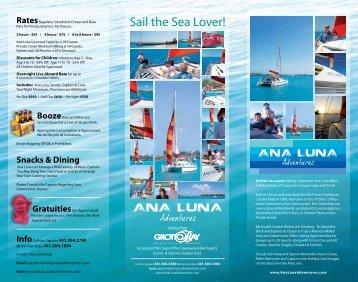 Sail the Sea Lover! - Ana Luna Adventures