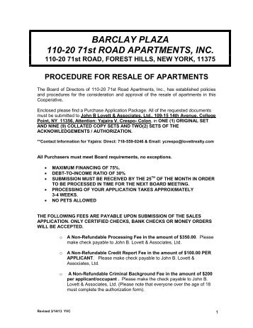 Purchase Application - The Lovett Group of Real Estate Companies
