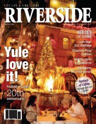 The exit interview Ron Loveridge is ending his - Riverside Magazine