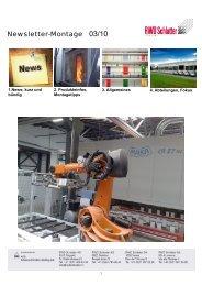 Newsletter-Montage 03/10 - RWD Schlatter AG