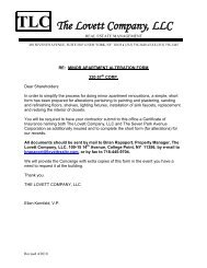 Alteration Agreement - The Lovett Group of Real Estate Companies