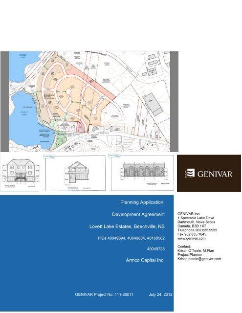 Planning Application: Development Agreement Lovett Lake Estates ...