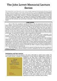 The John Lovett Memorial Lecture Series - University of Limerick