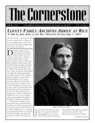 lovett family archives arrive at rice - Rice Historical Society