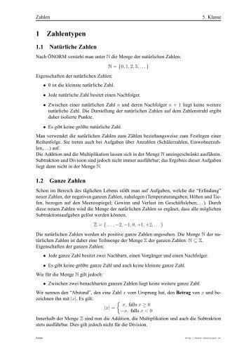 1 Komplexe Zahlen - Mone Denninger