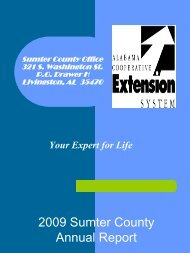 Commissioners Report 2009 - Alabama Cooperative Extension ...