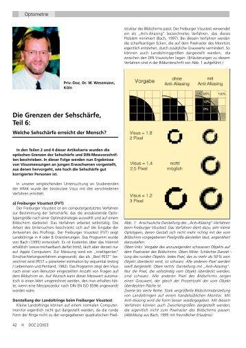 Die Grenzen der Sehschärfe, Teil 6: - Höhere Fachschule für ...