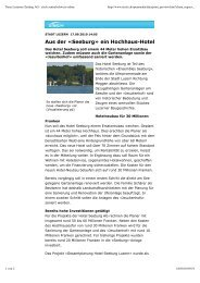 Neue Luzerner Zeitung AG - zisch zentralschweiz ... - Hotel Seeburg